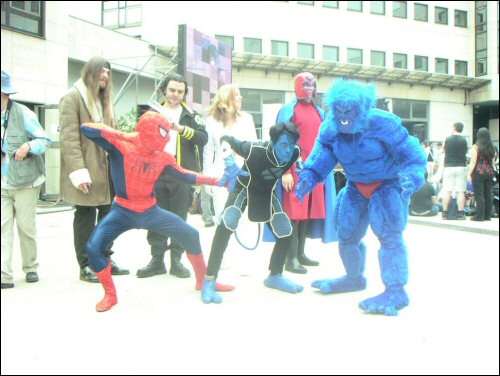 Le groupe X-Men avec Spiderman.